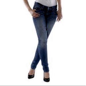 Levi's 524 too super low skinny stretch jeans sz 7